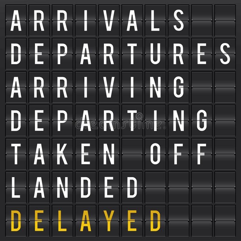Placa da partida do aeroporto ilustração royalty free