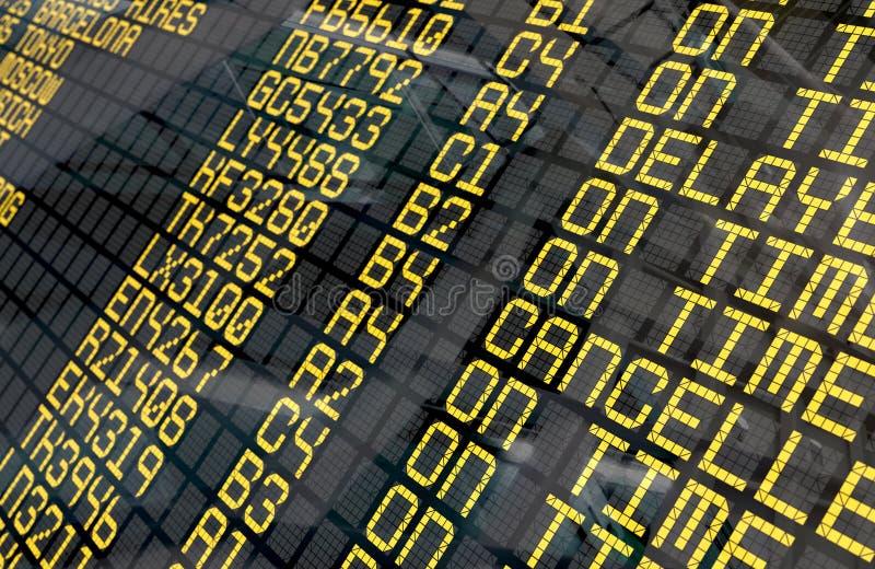 Placa da partida do aeroporto internacional foto de stock royalty free