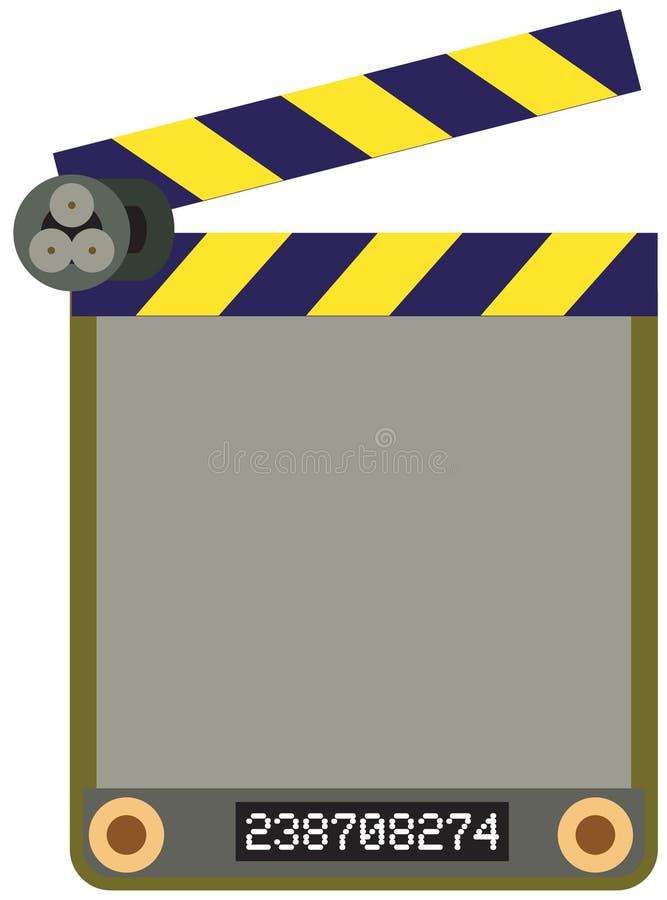 Placa da película. ilustração do vetor
