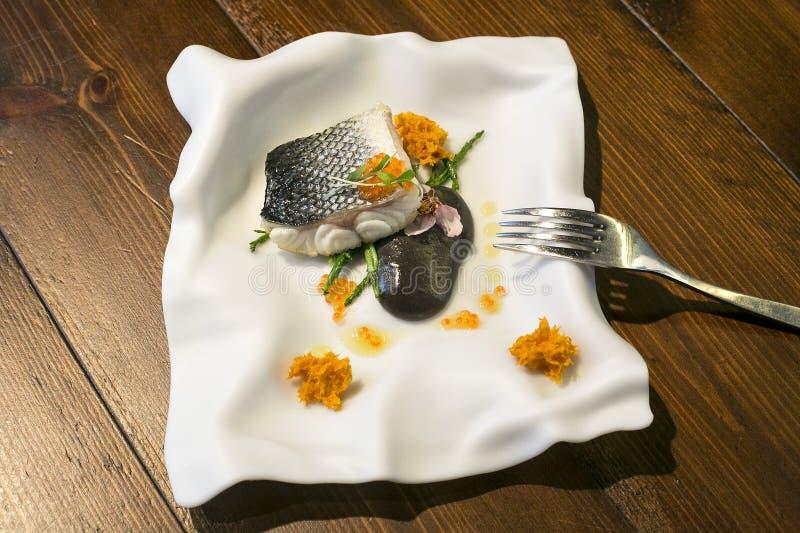 Placa da placa de peixes imagem de stock