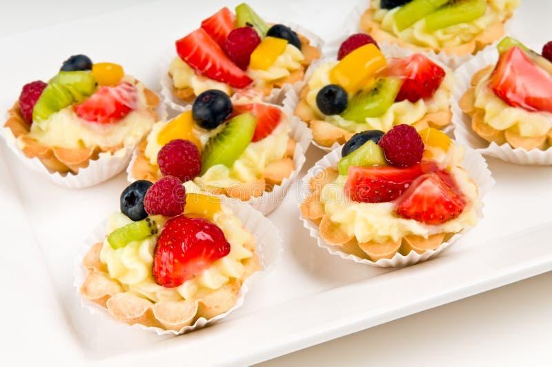 Placa da sobremesa da fruta imagens de stock royalty free