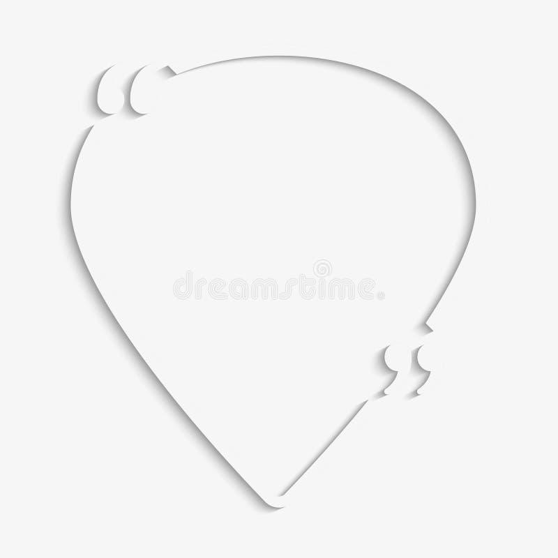 A placa das citações da bolha do discurso do ícone da navegação ilustração stock