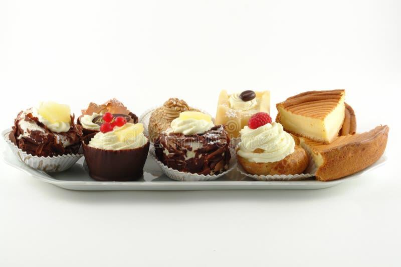 Placa das pastelarias fotos de stock royalty free