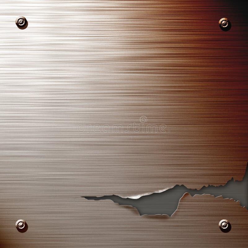 Placa de aço rachada