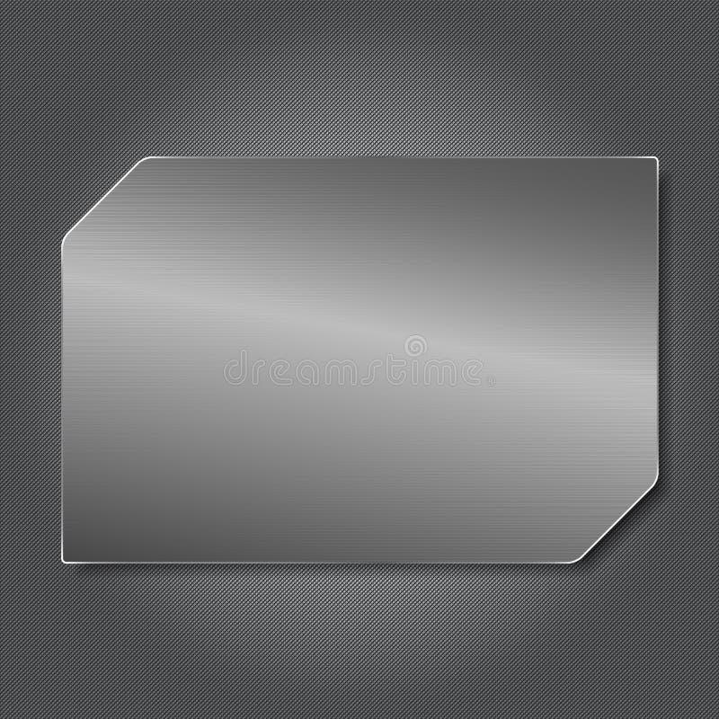 Placa de acero ilustración del vector