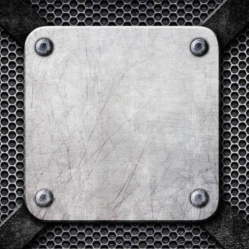 Placa De Acero Cuadrada, Marco De Acero Como Fondo Para El Diseño ...