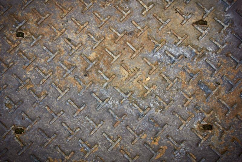Placa de acero oxidada vieja fotografía de archivo