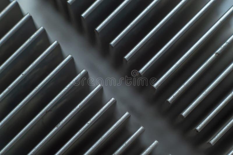 Placa de aluminio superficial del disipador de calor foto de archivo