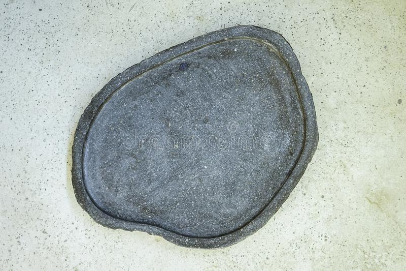 Placa de Beton no fundo do beton Modelo Modelo fotografia de stock royalty free