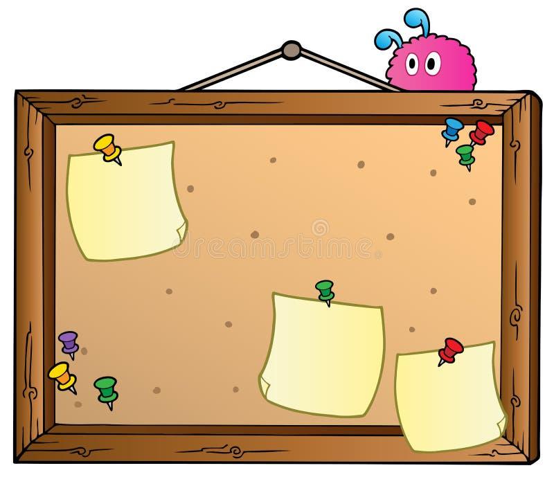 Placa de boletim dos desenhos animados ilustração do vetor