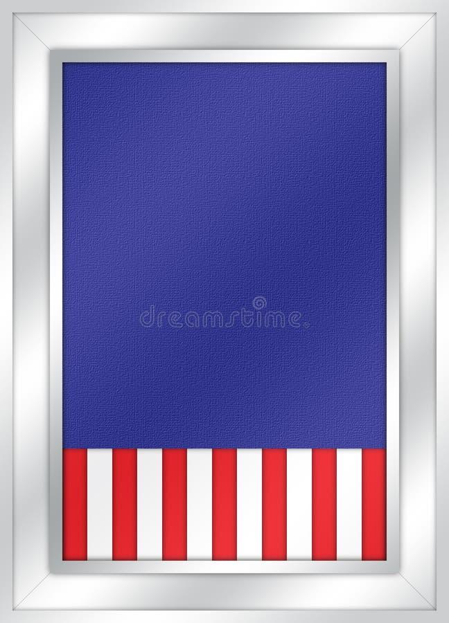 Placa de boletim patriótica fotos de stock royalty free