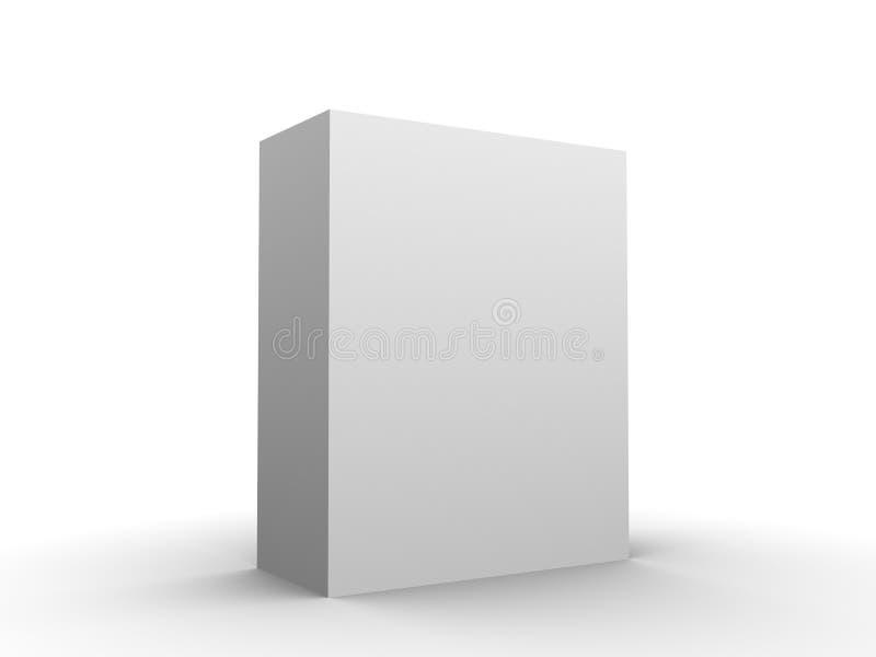 Placa de caixa do software ilustração stock