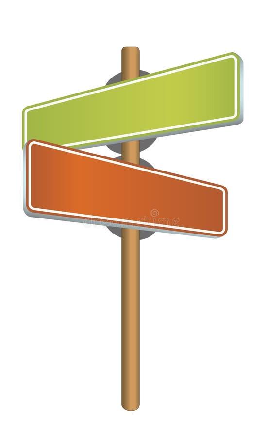 Placa de calle stock de ilustración