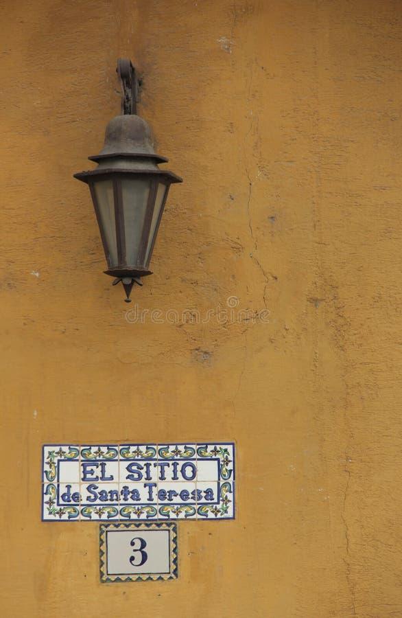 Placa de calle fotos de archivo libres de regalías