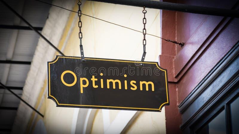 Placa de calle al optimismo imagen de archivo libre de regalías