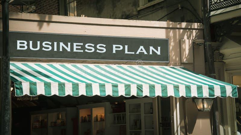 Placa de calle al plan empresarial fotografía de archivo libre de regalías