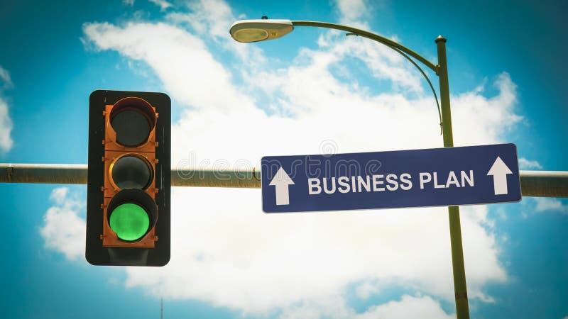 Placa de calle al plan empresarial imágenes de archivo libres de regalías