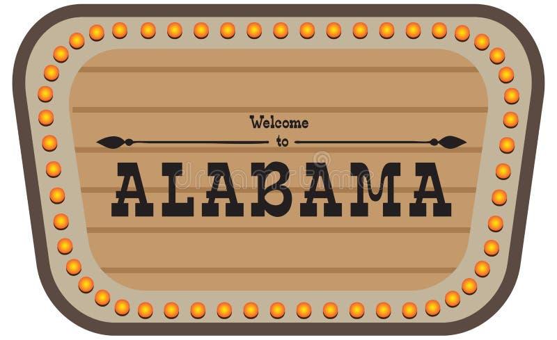 Placa de calle Alabama del vintage libre illustration