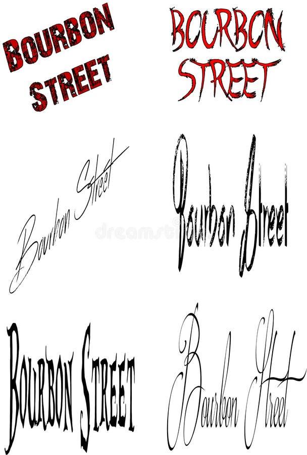 Placa de calle de Borbón ilustración del vector