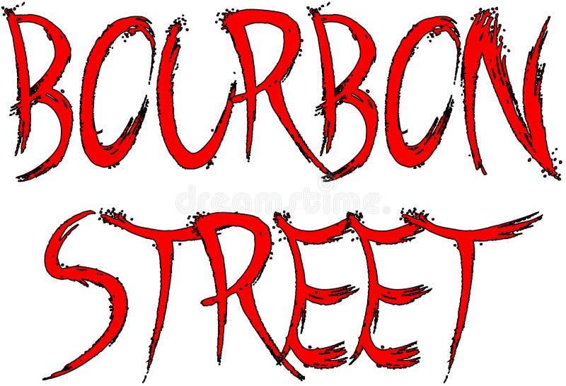 Placa de calle de Borbón stock de ilustración