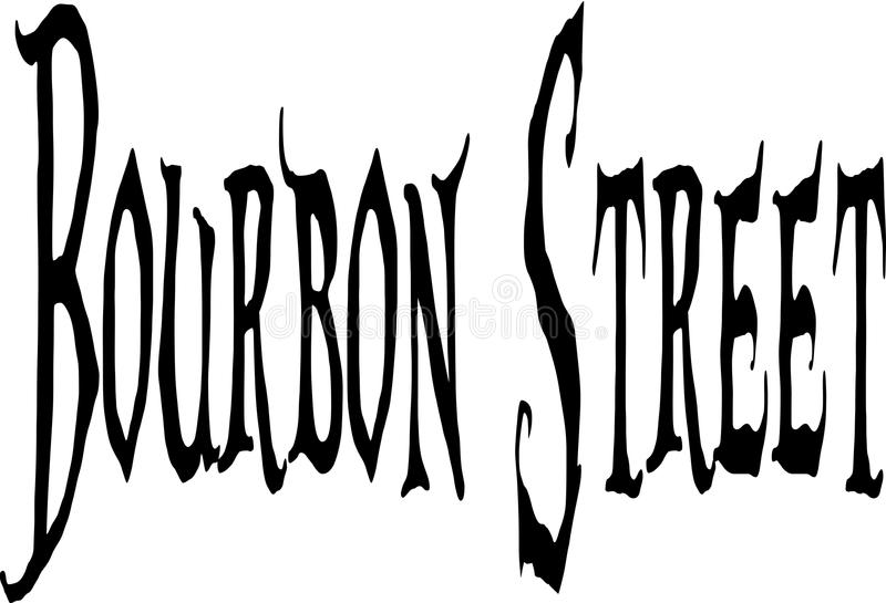 Placa de calle de Borbón libre illustration