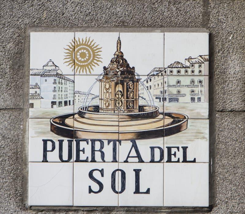 Placa de calle de Madrid fotografía de archivo libre de regalías