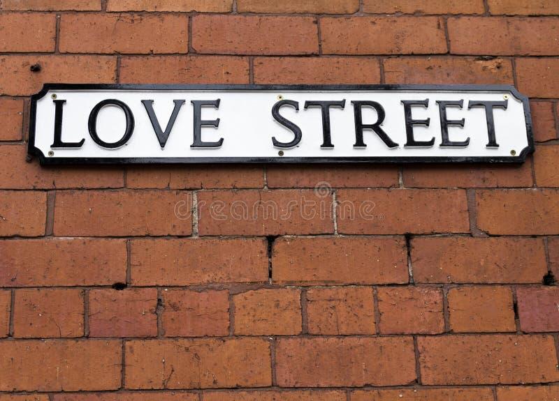 Placa de calle del amor imagen de archivo libre de regalías