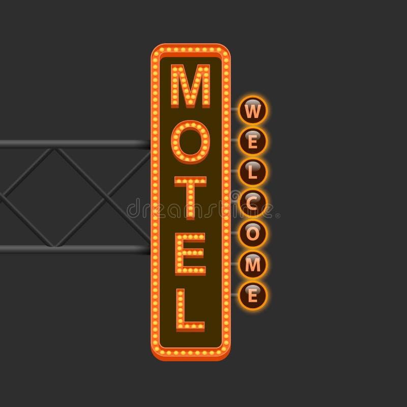Placa de calle del motel stock de ilustración