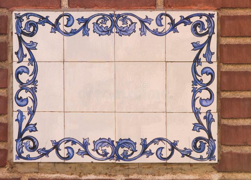 Placa de calle en Madrid imagen de archivo