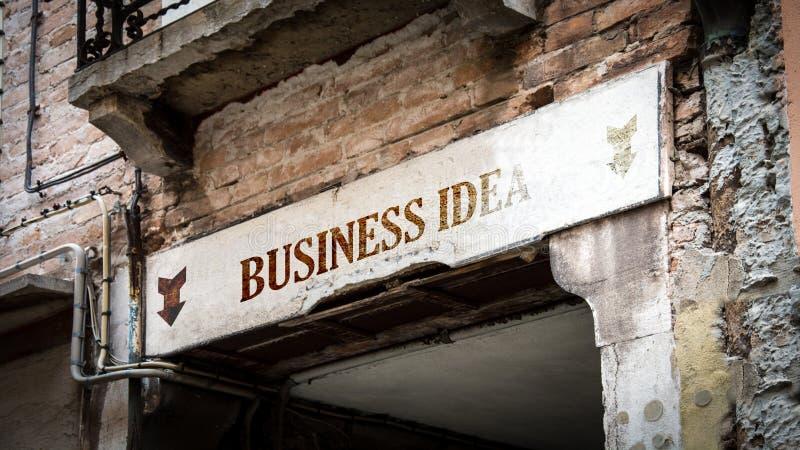 Placa de calle a la idea del negocio imagen de archivo