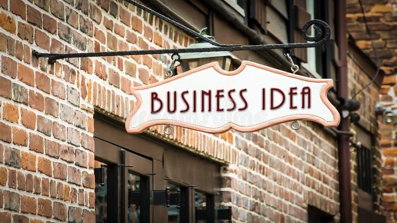 Placa de calle a la idea del negocio imagen de archivo libre de regalías