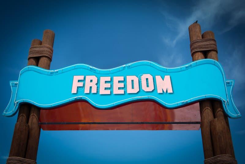 Placa de calle a la libertad libre illustration