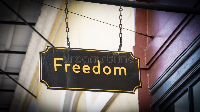 Placa de calle a la libertad stock de ilustración