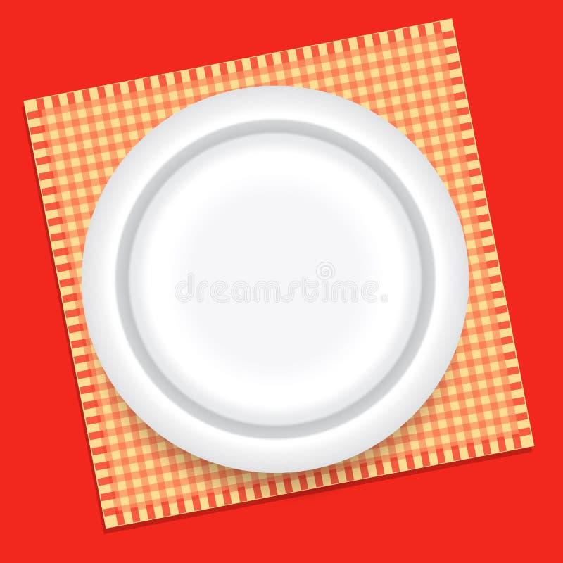 Placa de cena stock de ilustración