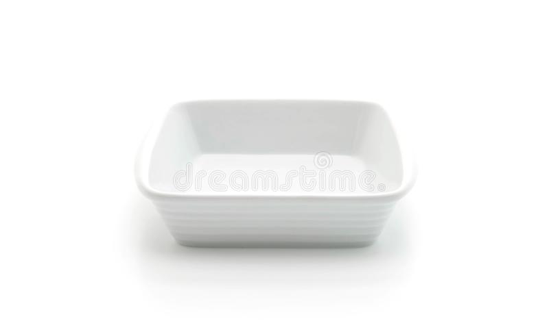Placa de cerámica blanca foto de archivo libre de regalías