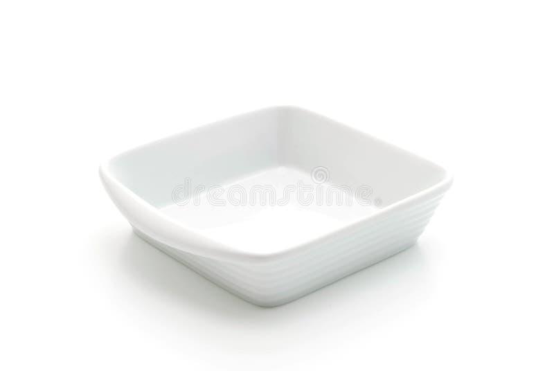 Placa de cerámica blanca fotos de archivo libres de regalías