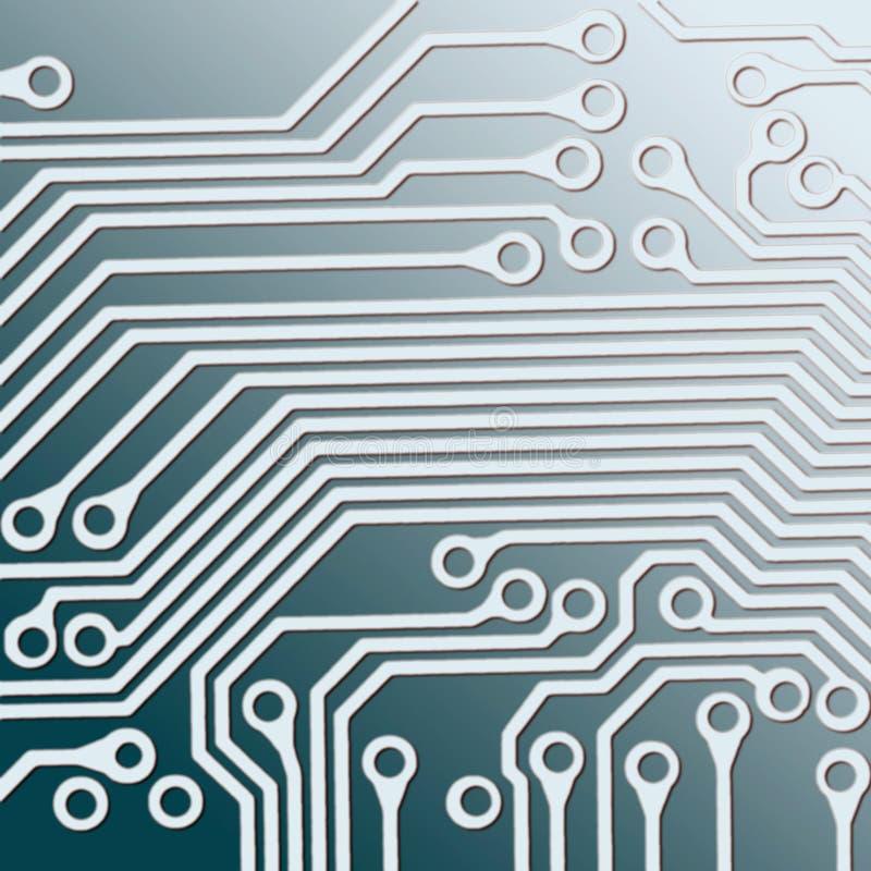 Placa de circuito ilustração do vetor