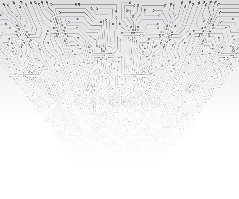 Placa de circuito abstracta 3D Ilustraci?n futurista del vector libre illustration
