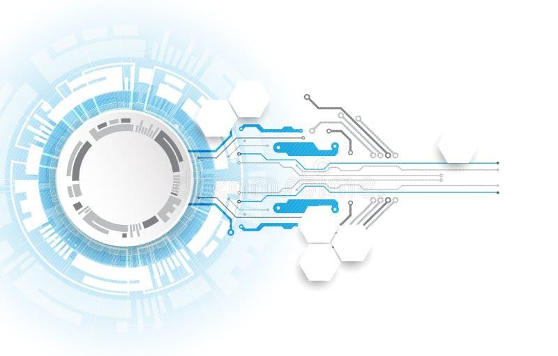 Placa de circuito abstrata da tecnologia Conceito de uma comunicação ilustração stock
