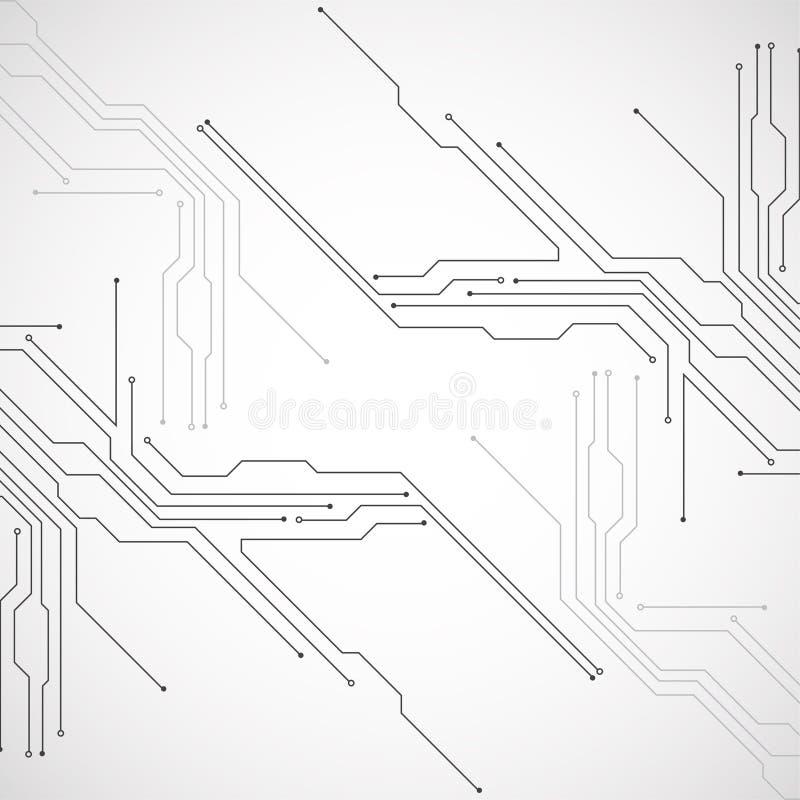 Placa de circuito abstrata da tecnologia Conceito de uma comunicação ilustração royalty free