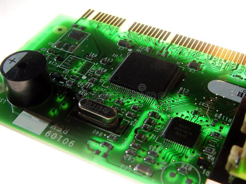 Placa de circuito Backlit Close-up foto de stock royalty free