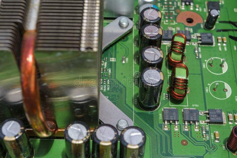 Placa de circuito de la electrónica imagen de archivo