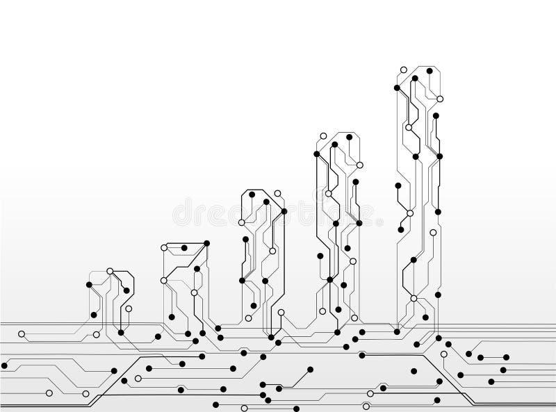 Placa de circuito del gráfico stock de ilustración