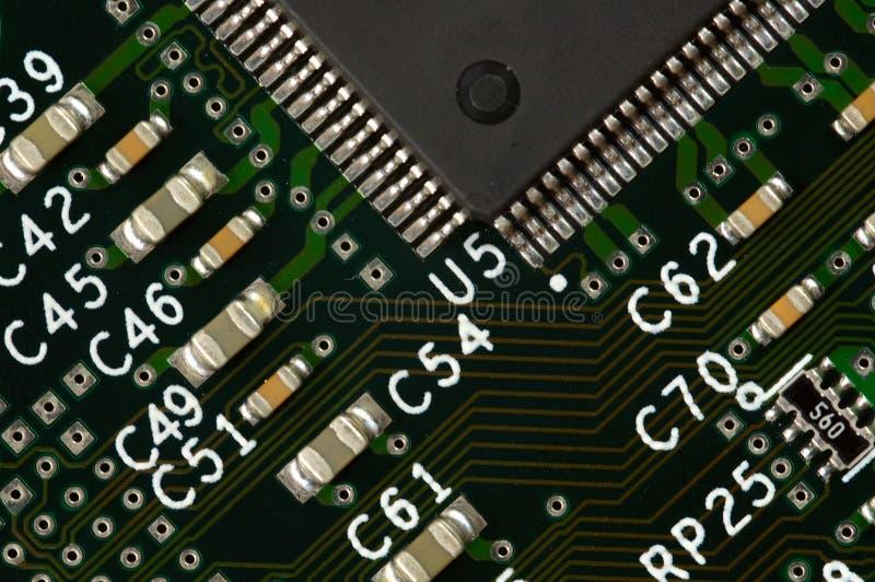 Placa de circuito del ordenador fotografía de archivo libre de regalías