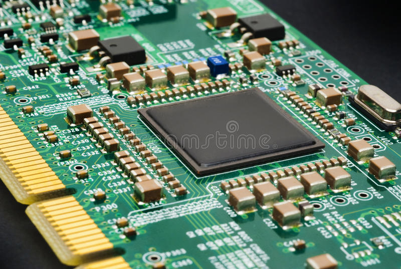 Placa de circuito do computador fotos de stock