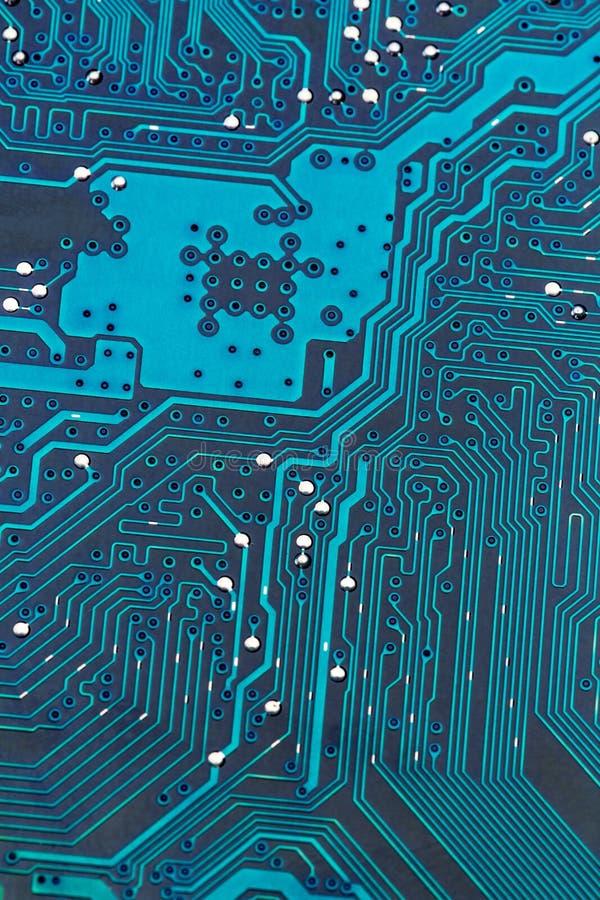 Placa de circuito do computador, close-up fotografia de stock royalty free