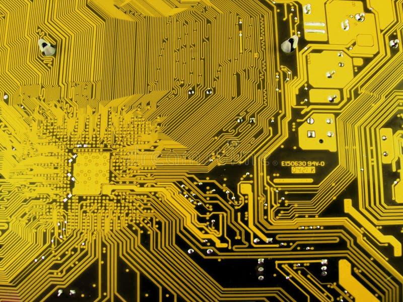 Placa de circuito do computador eletrônico foto de stock