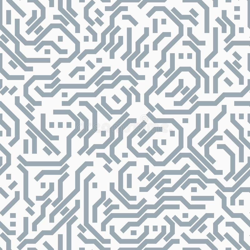 Placa de circuito do computador Teste padrão sem emenda ilustração stock
