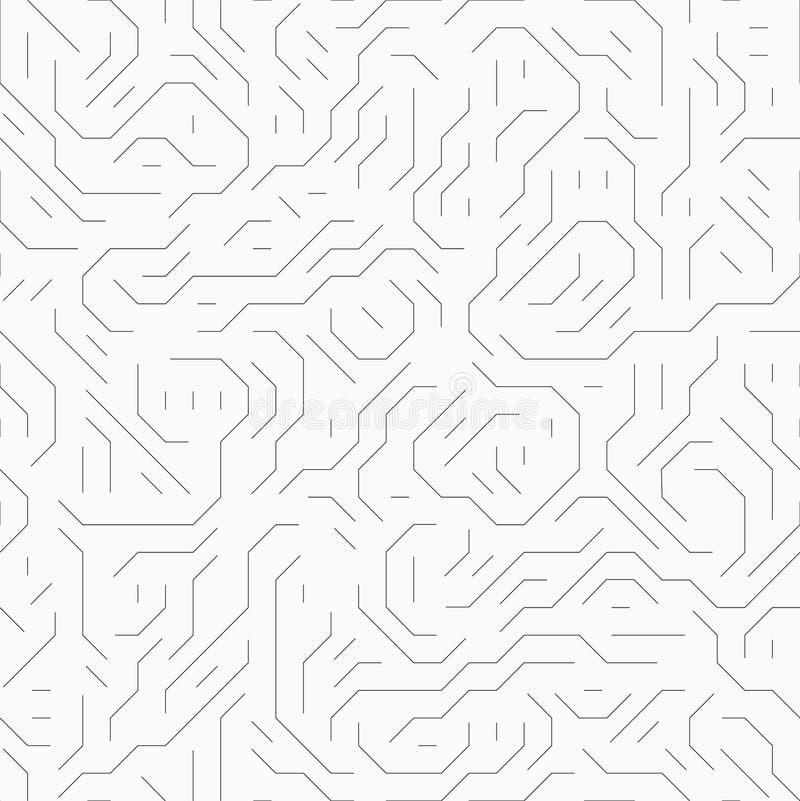 Placa de circuito do computador Teste padrão sem emenda ilustração royalty free