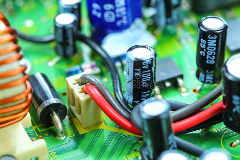 Placa de circuito electrónica del primer foto de archivo